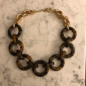 Jcrew tortoise/gold statement necklace like new